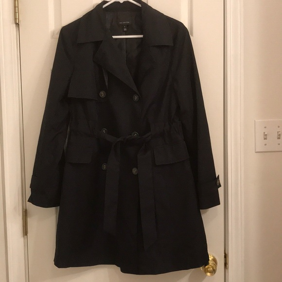 The Limited Jackets & Blazers - Limited Black Trench Coat Rain Coat